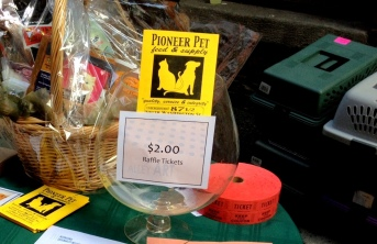awesome raffle prize from pioneer pet feed & supply